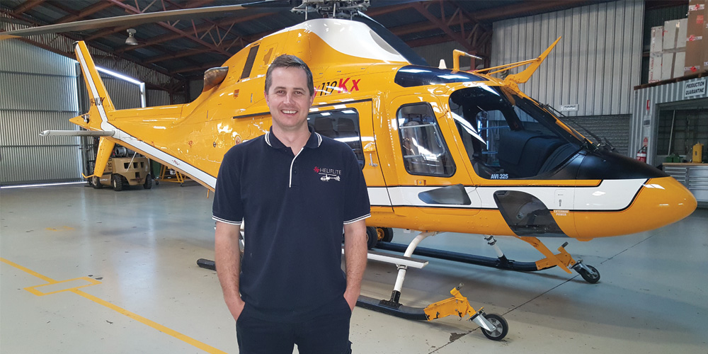Chris Kaminski completed an apprenticeship to become an aircraft engineer.