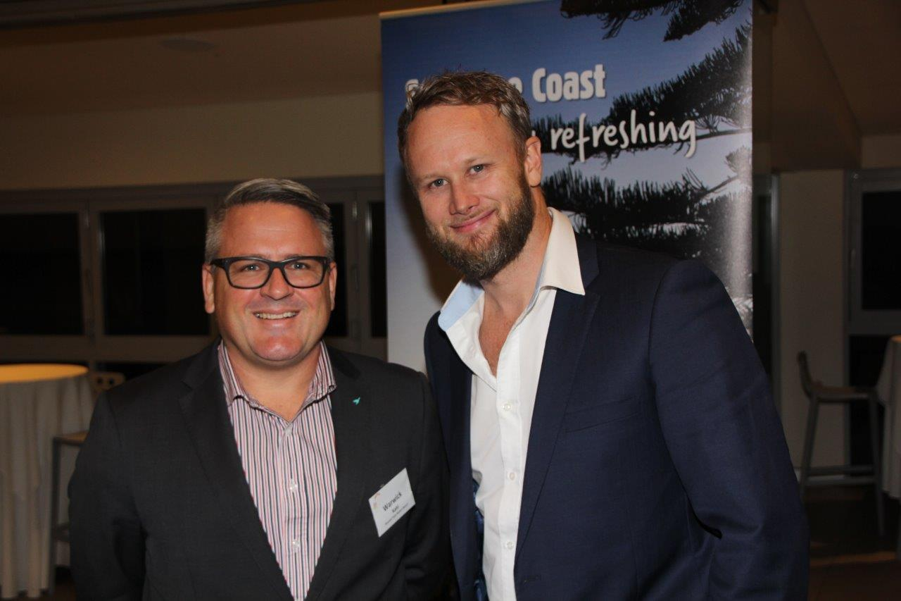 Brisbane Heat's Andrew McShea spoke at the Sunshine Coast Council's Major Events networking evening last month.