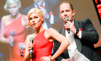 Sunshine Coast identity Justin Veivers with Sophie Monk hosting the Dance for Daniel.