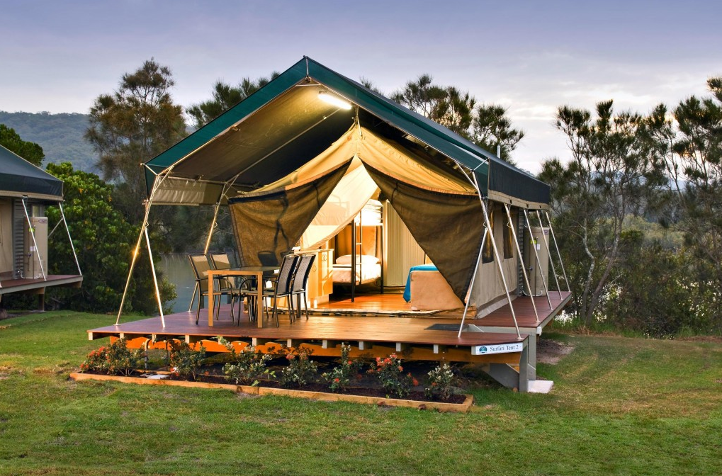 Hastings Point Holiday Park, New South Wales, camping, glamping