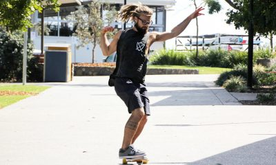 Mooloolaba's Milan Somerville dances on a skateboard in Skrillex's new song.