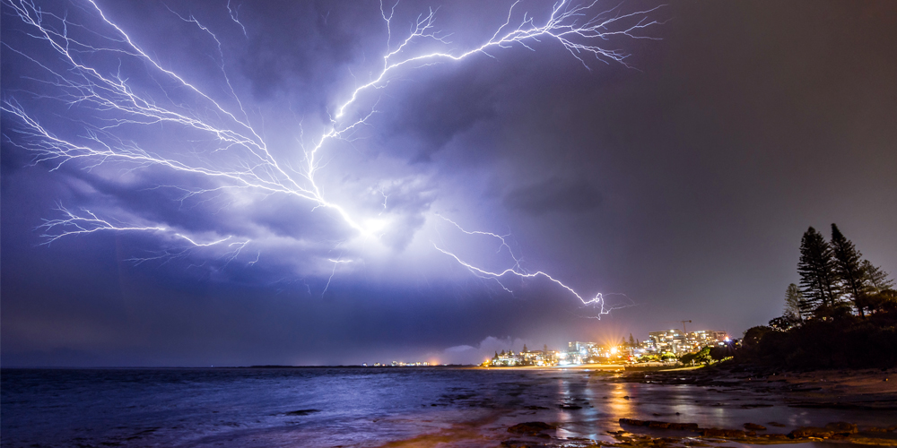 Lightning storm captured at Kings Beach by photographer Phil Staatz.
