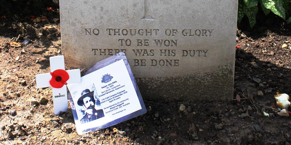 John Dahl, Remembrance Day