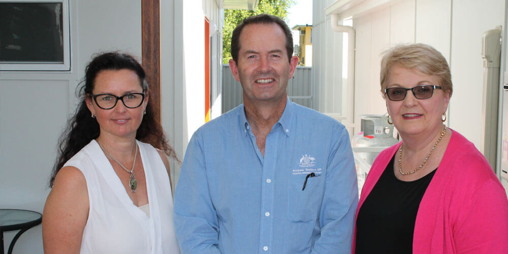 MP Andrew Wallace has presented Steps Group with a $480,00 grant to support children with autism.