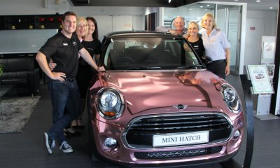Can you see yourself cruising around in this $40,000 rose gold Mini? Well, buy a ticket and start visualising.