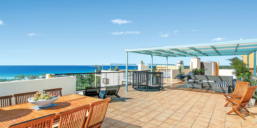 Photographer Robyn Hills has worked her magic on this penthouse apartment at Marcoola – get in quick when it goes to auction.